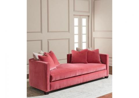 *RARE* Cynthia Rowley Pink Velvet Daybed